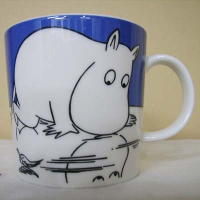 アラビア/ARABIA/ムーミンマグ/Moomin Collection Mug ムーミン(moomintroll on ice)